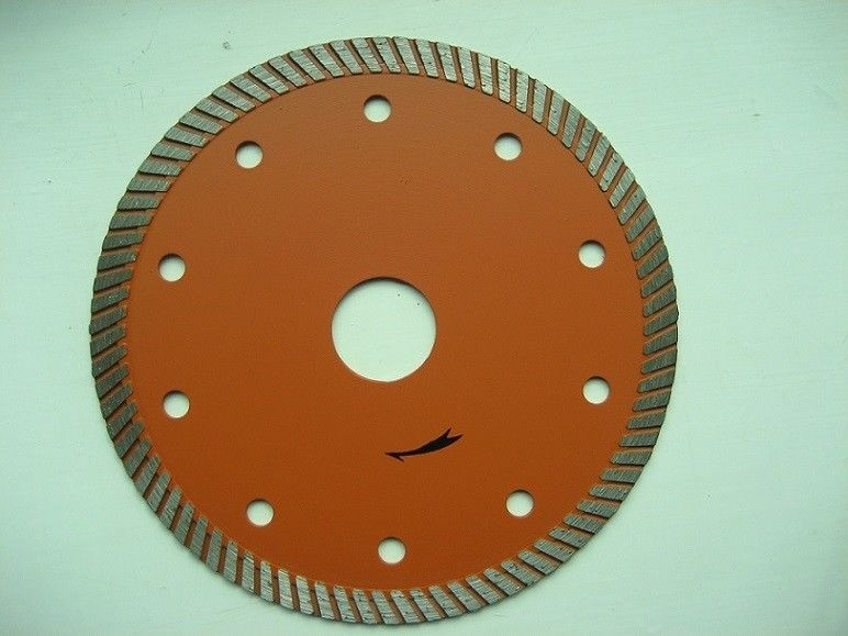 Orange     9 Inch  Narrow Turbo Rim Diamond Blade    Granite Cutting High Speed